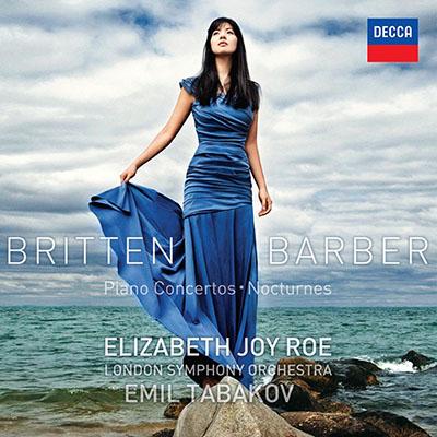 CD Cover, DECCA, Britten & Barber, Elizabeth Joy Roe/London Symphony Orchestra