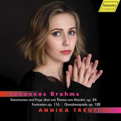 CD Cover, hännsler CLASSIC, Johannes Brahms, Annika Treutler,
